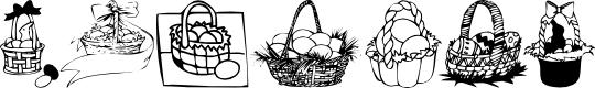 Preview image for KR Easter Baskets Font