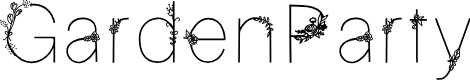 Preview image for GardenParty Font
