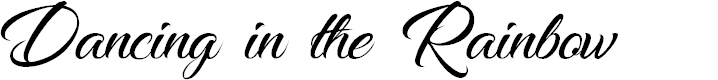Preview image for Dancing in the Rainbow Font