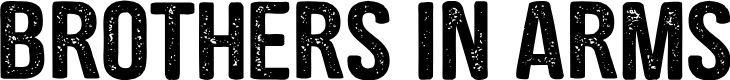 Preview image for CF Brothers in Arms PERSONAL Regular Font