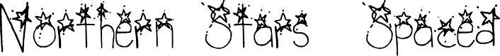 Preview image for Northern Stars _ Spaced Regular Font