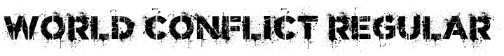 Preview image for World Conflict Regular Font