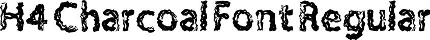 Preview image for H4 Charcoal Font Regular Font