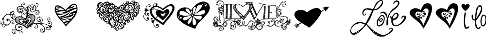 Preview image for KG Heart Doodles Font