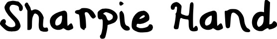 Preview image for Sharpie Hand Font