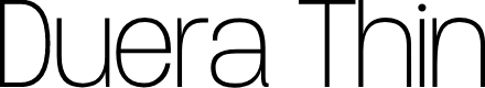 Preview image for Duera PERSONAL USE Normal Thin Font