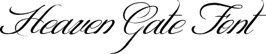 Preview image for HEAVENGATE Font