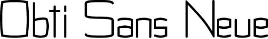 Preview image for Obti Sans Neue Font
