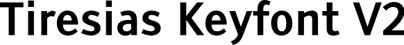 Tiresias Keyfont V2