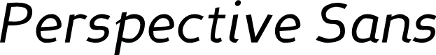 Preview image for Perspective Sans Italic