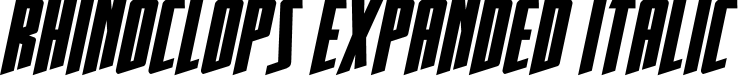 Preview image for Rhinoclops Expanded Italic