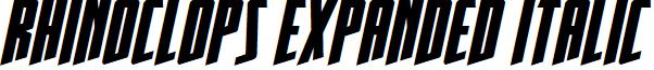Rhinoclops Expanded Italic