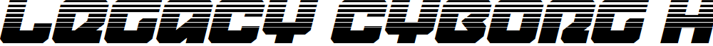 Legacy Cyborg Halftone Italic