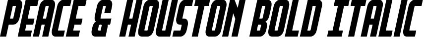 Preview image for Peace & Houston Bold Italic