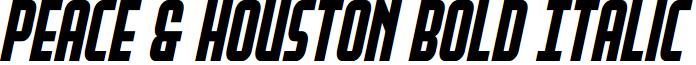 Peace & Houston Bold Italic