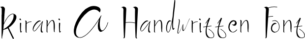 Preview image for Kirani A Handwritten Font