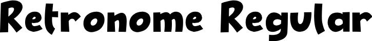 Preview image for Retronome Regular Font