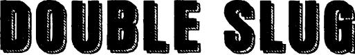 Preview image for Double Slug Font