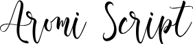 Aromi Script