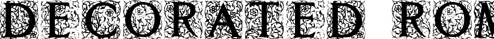 Preview image for Decorated Roman Initials Font