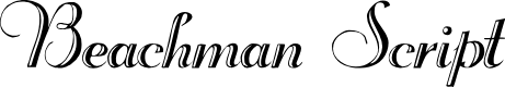 Preview image for Beachman Script Font