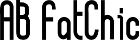 Preview image for AB FatChic Font