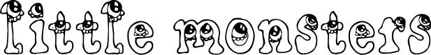 Preview image for CF Little Monsters Regular Font