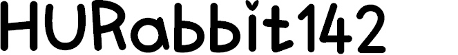 Preview image for HURabbit142 Font