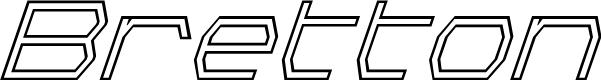 Preview image for Bretton Outline Super-Italic