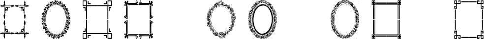 Preview image for Vintage Frames 6 Font