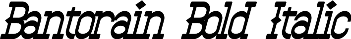 Preview image for Bantorain Bold Italic
