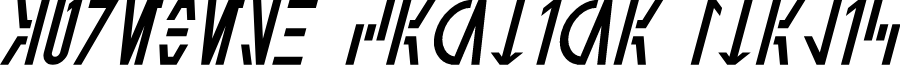 Aurebesh Cantina Italic
