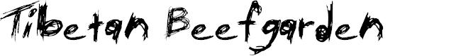 Preview image for Tibetan Beefgarden AOE Font
