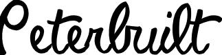 Preview image for Peterbuilt Font