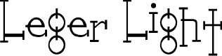 Preview image for Leger Light Font