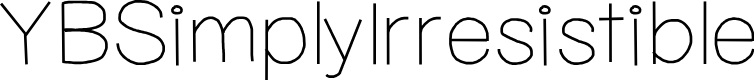 Preview image for YBSimplyIrresistible Font