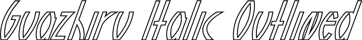Preview image for Guazhiru Italic Outlined