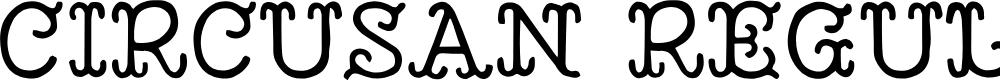 Preview image for Circusan Regular Font
