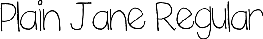Preview image for Plain Jane Regular Font