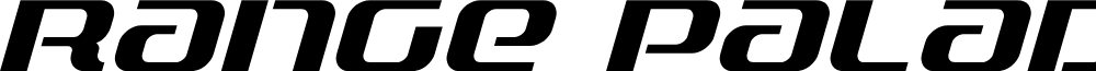 Range Paladin Italic font