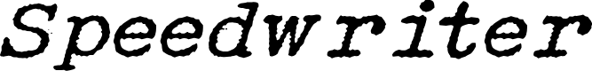 Preview image for Speedwriter Font