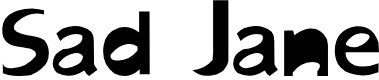 Preview image for Sad Jane Font