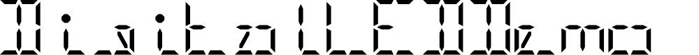 Preview image for Digital LED-Demo Regular Font