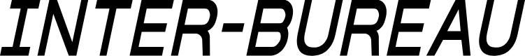 Preview image for Inter-Bureau Condensed Italic
