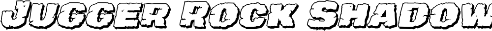 Jugger Rock Shadow Italic