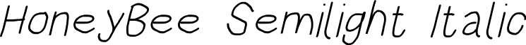 HoneyBee Semilight Italic