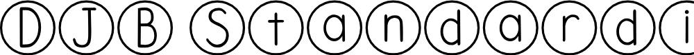 Preview image for DJB Standardized Test Font