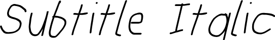 Preview image for Subtitle Italic