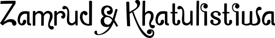Preview image for Zamrud&Khatulistiwa Font