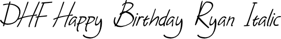 Preview image for DHF Happy Birthday Ryan Italic